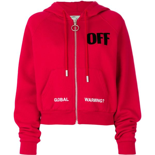 Off-White zip-up hoodie ($895) ❤ liked on Polyvore featuring tops, hoodies, red, red hooded sweatshirt, hooded pullover, off white hoodie, red zip hoodie and hooded zip up sweatshirt