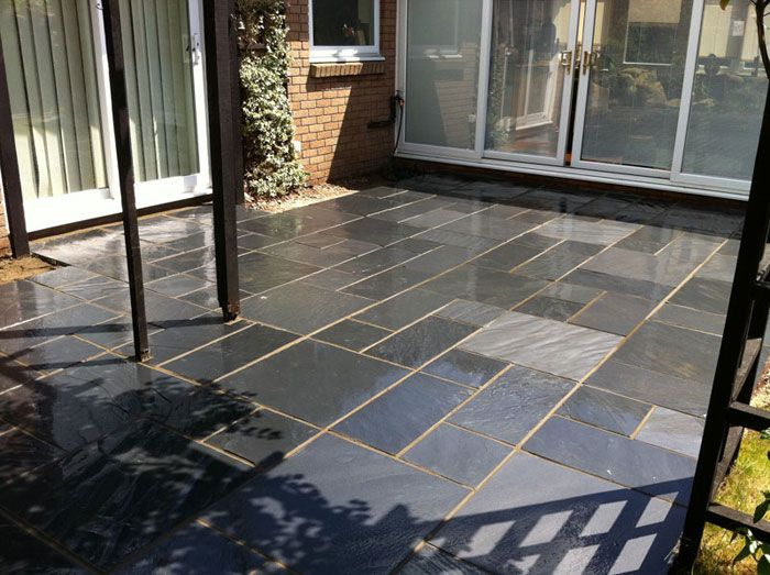 how to clean natural slate patio