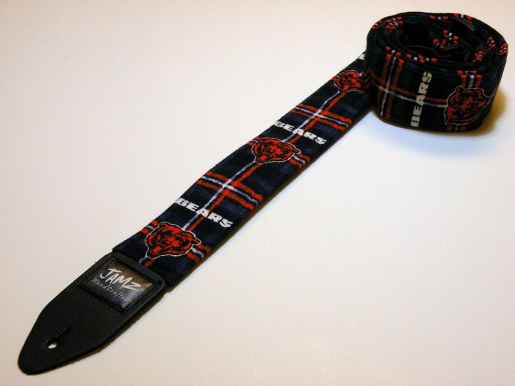Pro football team handmade double padded guitar strap - This is NOT a licensed product.