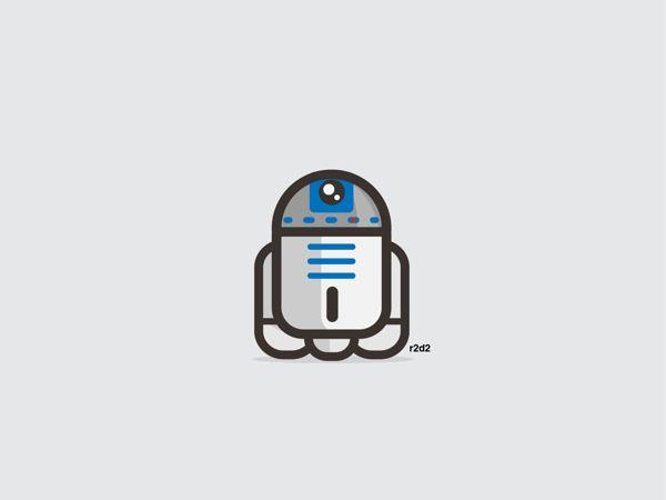 R2D2 | R2D2 | 9 Insanely Cute 'Star Wars' Illustrations The work of UK-based illustrator Konrad Kirpluk.
