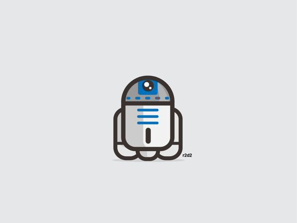 R2D2 | 9 Insanely Cute 'Star Wars' Illustrations