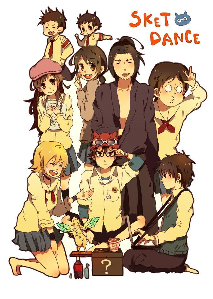 Tags: Anime, Horse, Pleated Skirt, Blue Skirt, SKET Dance, Onizuka Hime, Fujisaki Yusuke