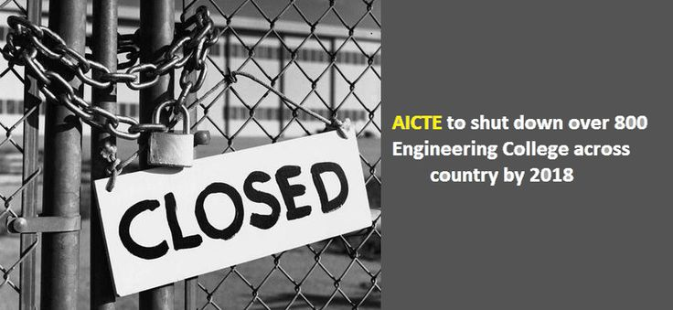 More than 800 engineering universities the country over have been made a request to close down from the following scholarly year