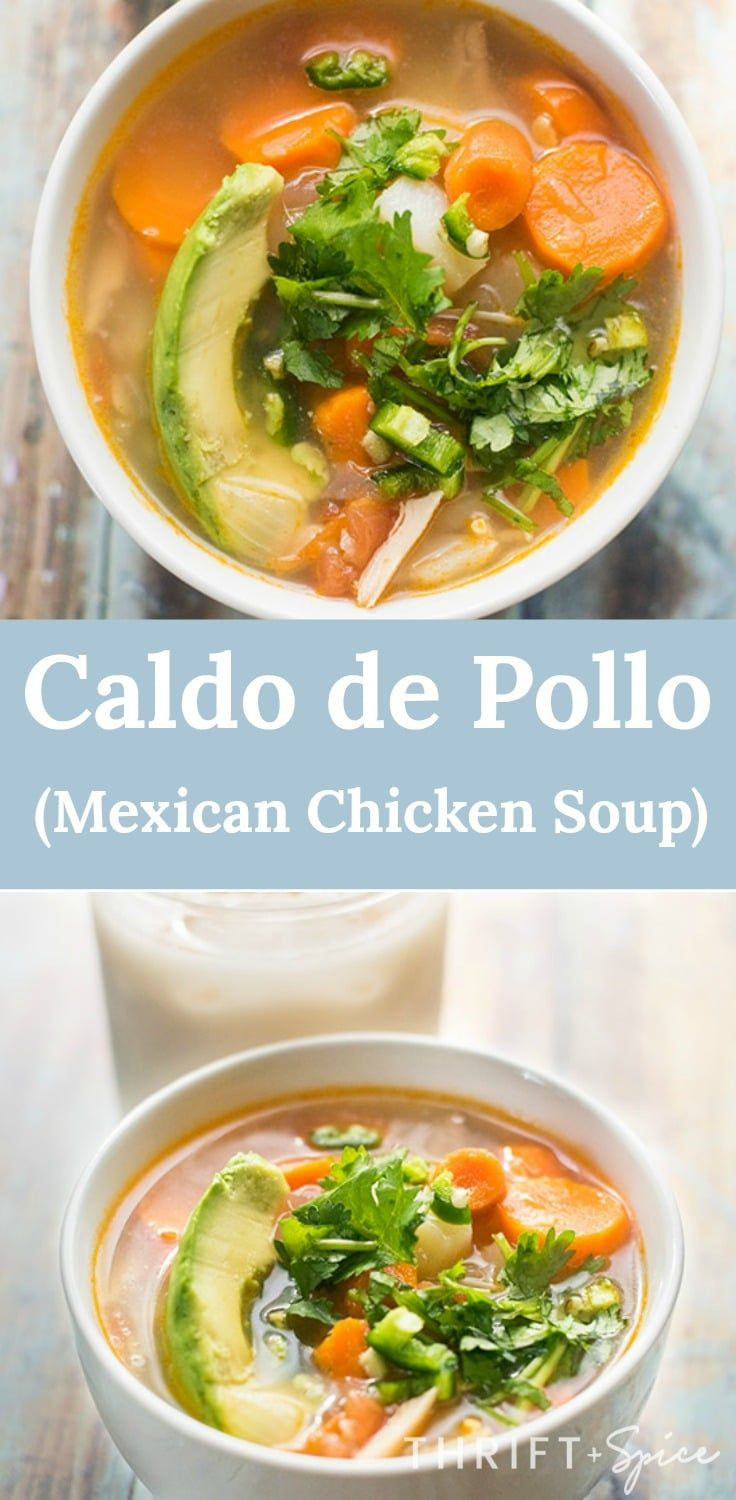 caldo de pollo is a delicious mexican chicken soup. This soup is perfect during the chilly Fall and Winter seasons.