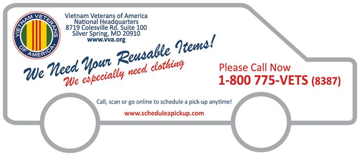 Vietnam Vets donations- Schedule a Pick-Up – We Need Your Discards!