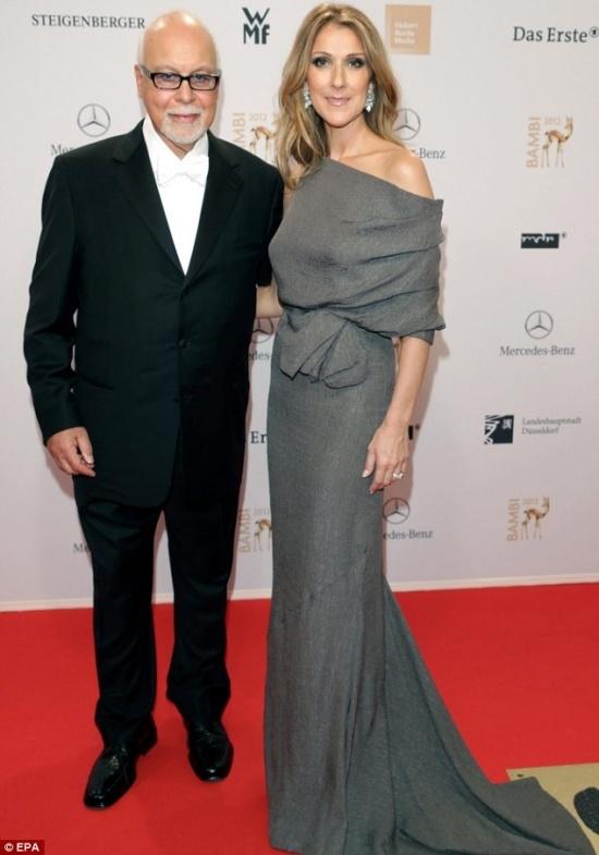 Céline Dion with husband