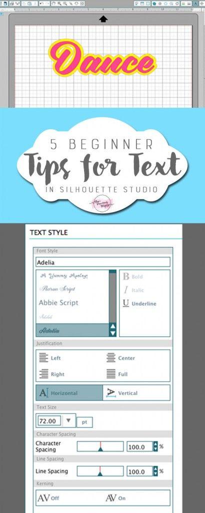 5 Beginner Tips for Text in Silhouette Studio