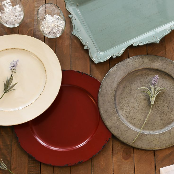 Give Your Table Decorations A Signature Style With Kirklands Beautiful Collection Of Charger Plates