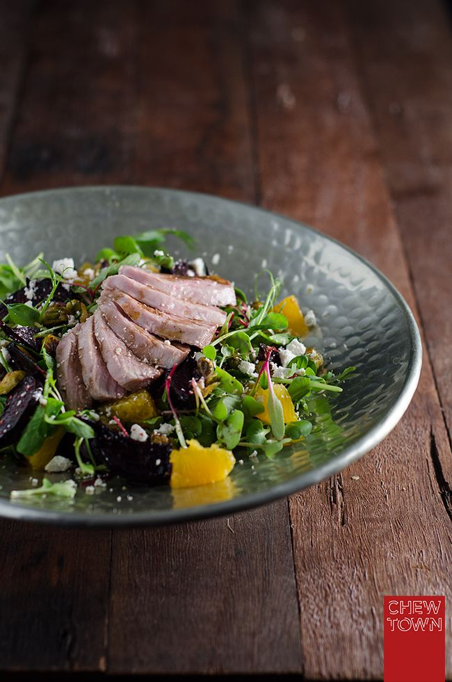 Smoked Duck, Maple Beetroot and Orange Salad Recipe | Chew Town Food Blog