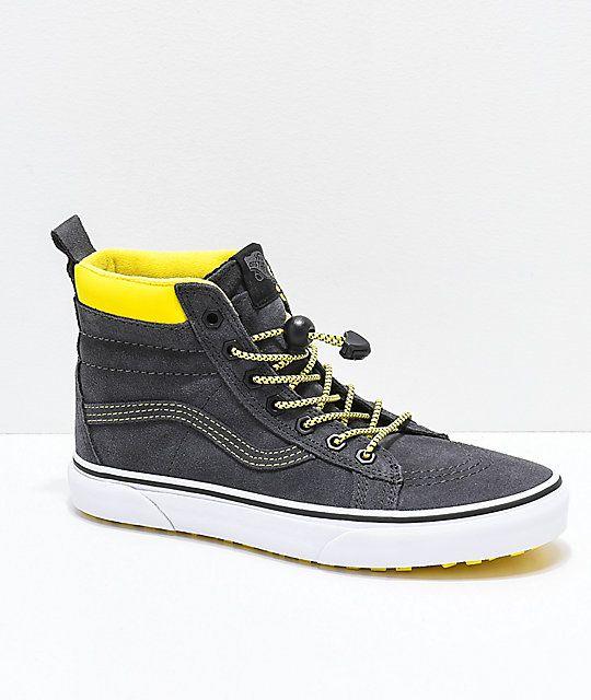 Vans Sk8-Hi MTE Grey \u0026 Yellow Shoes