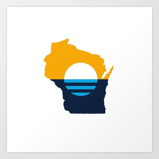 """This design utilizes The People's Flag of Milwaukee (new City of Milwaukee flag) within the shape of the state of Wisconsin.<br/> <br/> On June 14, 2016, Flag Day, this flag was declared the People's Flag of Milwaukee. Rated highest amongst four other finalists, as determined by the public, """"Sunrise Over the Lake"""" will hereby fly as a symbol of potential and aspiration. <br/> <br/> The sun rising over Lake Michigan symbolizes a new day. The light ..."""