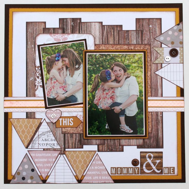 Scrapbook Layout Teresa Collins Designs-Life Emporium May Arts Ribbon