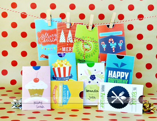 FREE 10 Printable Gift Card Holders By The Dating Divas
