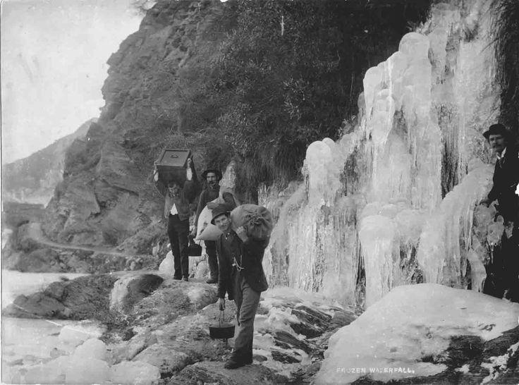 Frozen Waterfall on Macetown Road