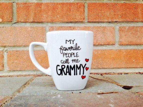Grandma Coffee Mug - My favorite people call me GRANDMA Mug - Gifts for Her.