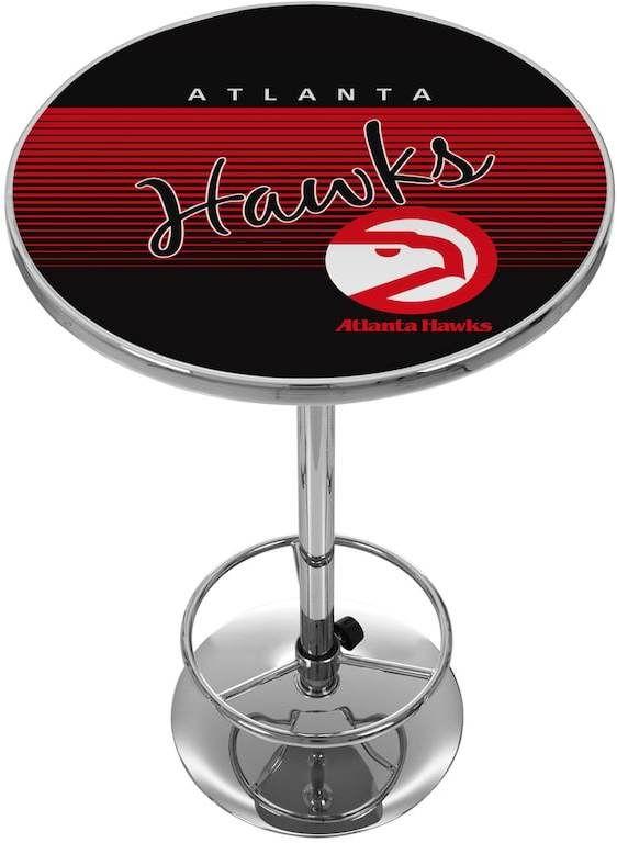 NBA Atlanta Hawks Hardwood Classics Chrome Pub Table