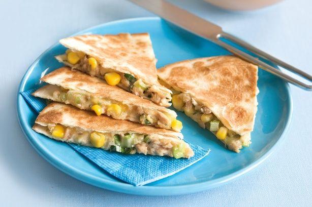 Tuna and corn quesadillas