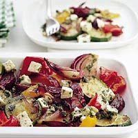 Recept - Salade van gegrilde groenten met mozzarella - Allerhande