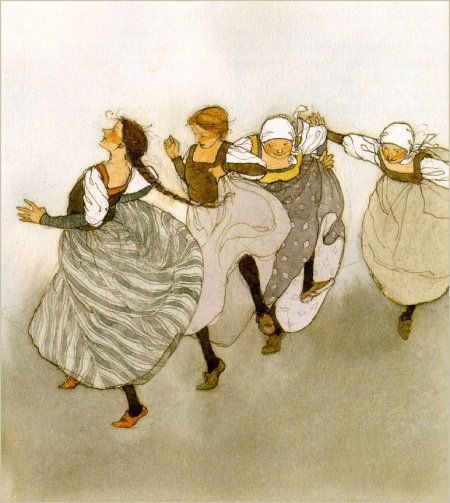 """The Twelve Dancing Princesses"" illustrated by Lisbeth Zwerger"