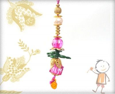 Lumba Rakhi - Send Online #Lumba #Rakhi – online rakhi.Trendy Pink Color Glass Beads Lumba, surprise your loved ones with roli chawal, chocolates and a greeting card as it is also a part of our package and that too without any extra charges. http://www.bablarakhi.com/