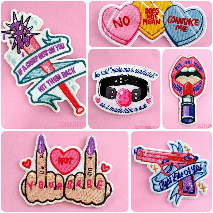 Get the complete 'Fight Like A Girl' patch set! Stitched to perfection, and ready to be ironed on to your favorite girl gang apparel ♥ *** NOTE: THIS SET IS DISCOUNTED BECAUSE 'PUT ON YOUR WAR PAINT' IS SOLD OUT! **** You will not receive that patch in this set. ♥ Iron on backing ♥ Rangi...