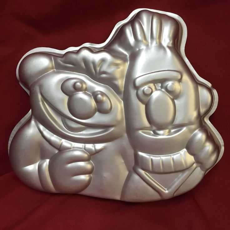 Wilton Ernie And Bert Cake Pan 502-7423 1971 1977 Muppets Sesame Street Vintage #Wilton #sesamestreet #bertandernie
