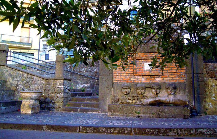 La fonte dei Canali, Piazza Roma, Buccheri, Sicily, Italy