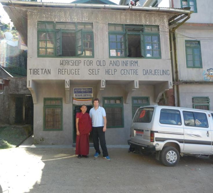 Tenzin and Terry Hodgkinson at Tibetan Refugee Centre in Darjeeling, India.  http://www.TaoJourneys.com