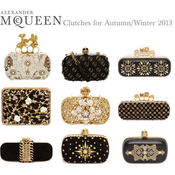 """Alexander McQueen Clutches for Autumn/Winter 2013"" by alexandermcqueen on Polyvore"