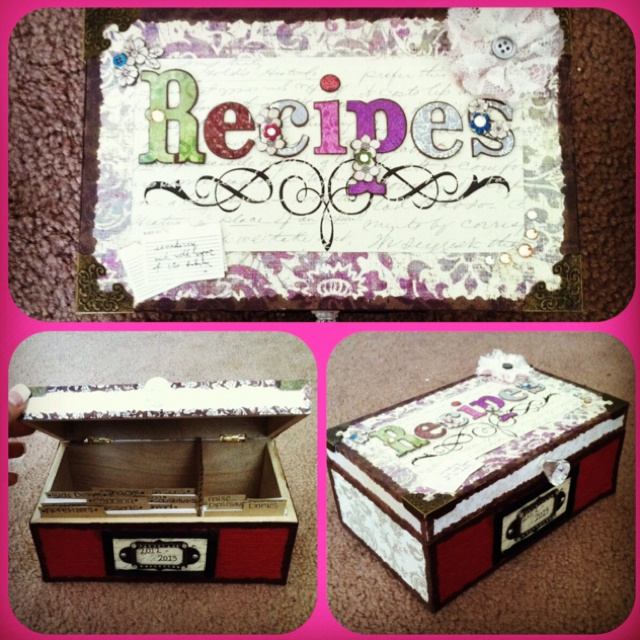 DIY recipe box:) love the way it turned out!