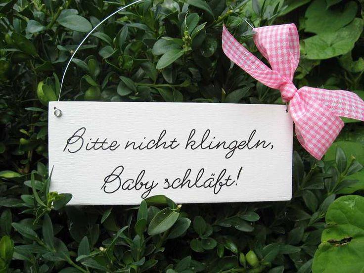 Sinnvolles #Geschenk zur #Geburt : Türschild - Bitte nicht klingeln, Baby schläft!