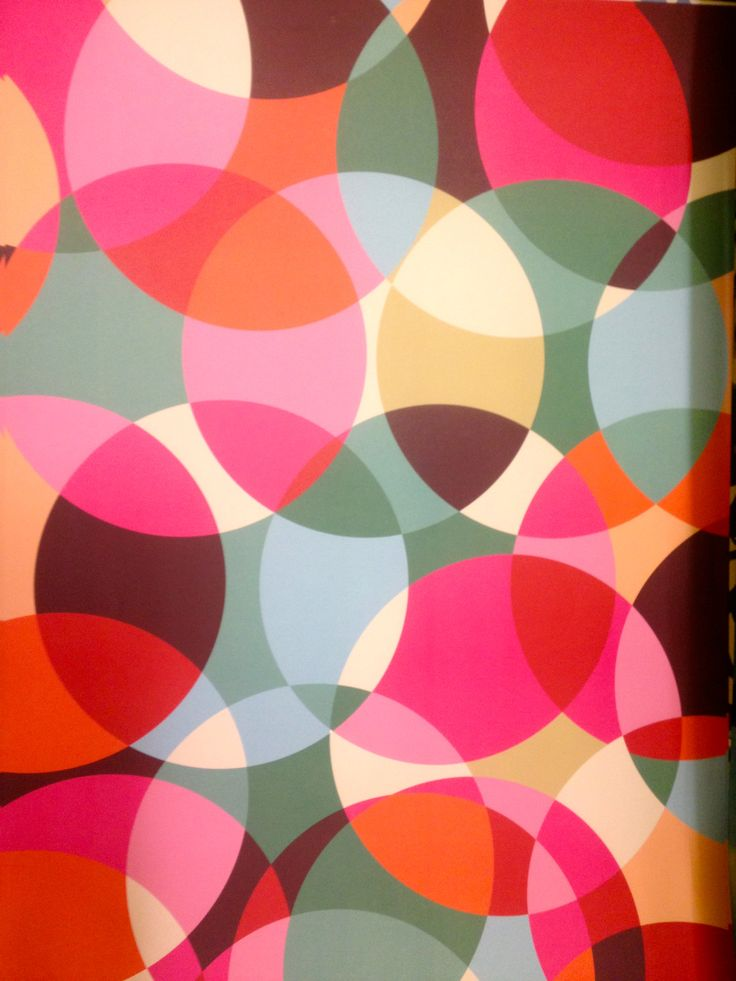 Circle patterned gift wrap...