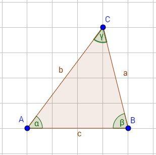 Das Dreieck Mit Erklärungen Zur Beschriftung Und Berechnung Von Seiten,  Sowie Der Fläche. Dabei