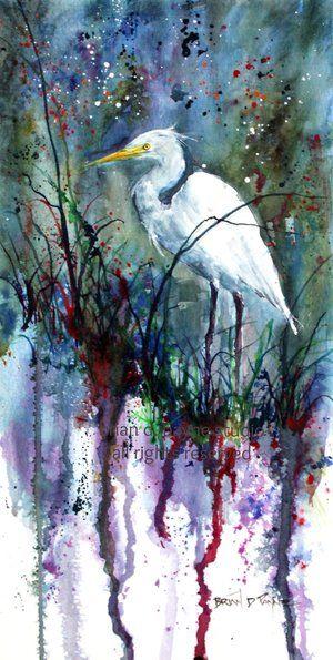 The Glimpse - White Egret