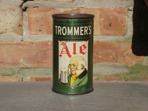 Very-Rare-Trommer-039-s-Flat-Top-Beer-Can-With-Opening-Instructions
