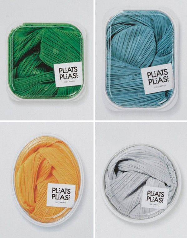 Pleats Please packaging by issey miyake