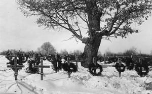 WWI, Eastern Front, German military cemetery. ©IWM