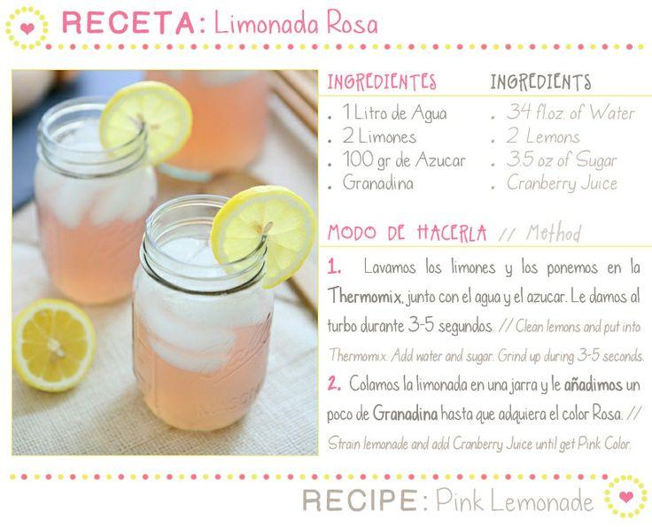 receta limonada rosa