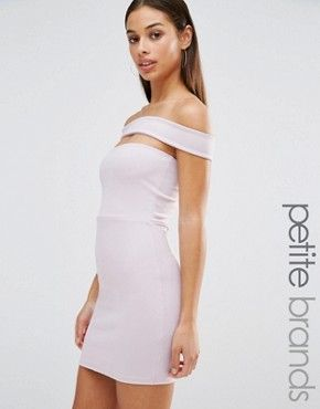 Missguided Petite Cut Out Panel Bardot Bodycon Dress