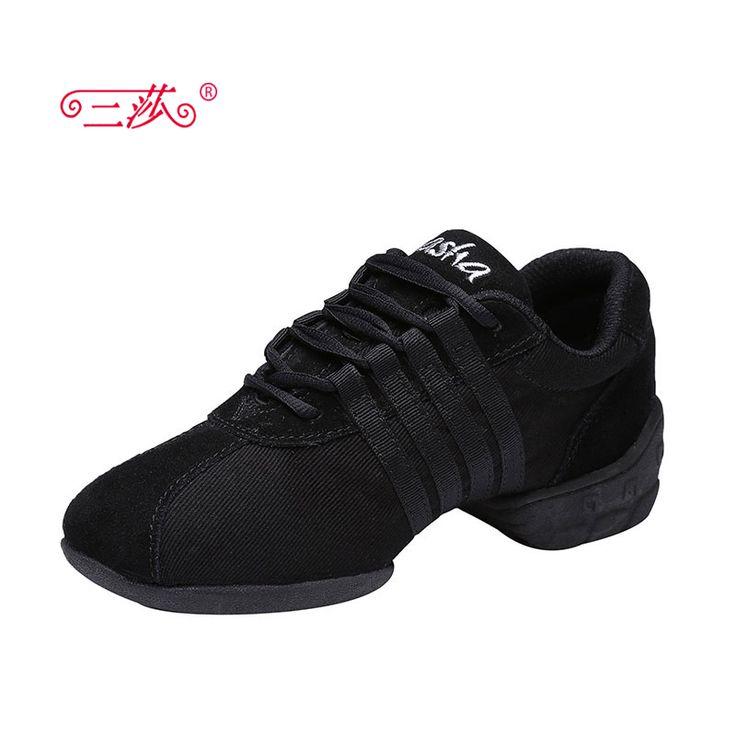 Sasha vrouwen canvans lederen Jazz hoofdvak in Pop dance Sneakers schoenen lady sport dansschoenen Vier kleur Leraar ShoesT01