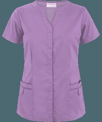 Butter-Soft+Scrubs+by+UA™+4+Pocket+Snap+Front+Top