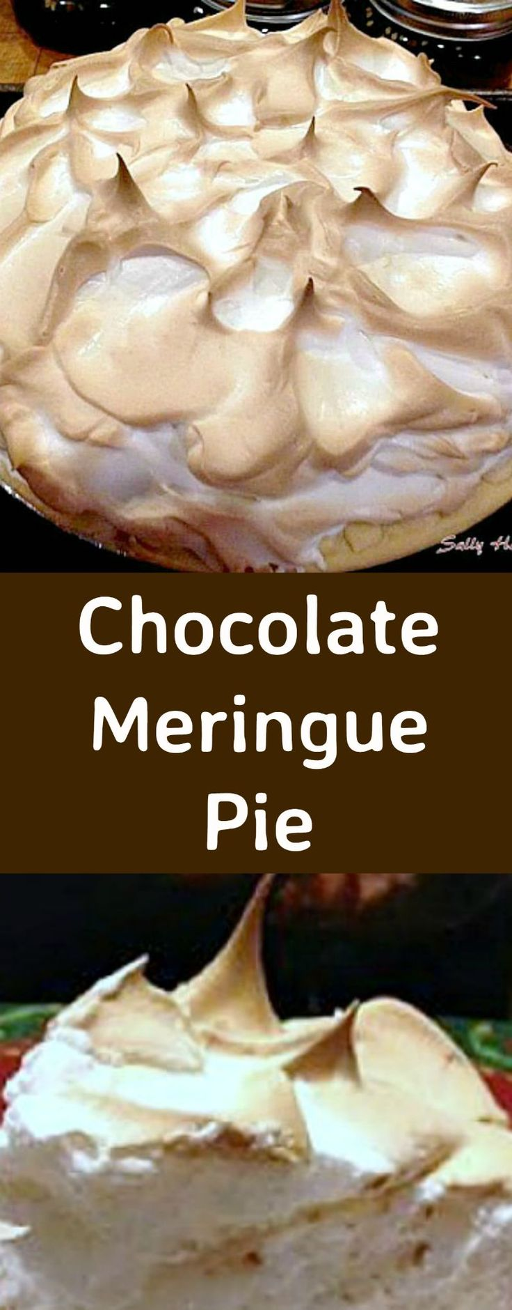 Chocolate Meringue Pie. Easy to make and looks fabulous! Perfect for the holidays!