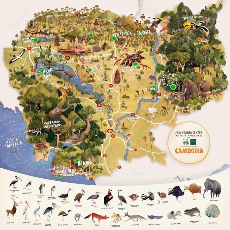 Cambodia map by Brendan Wenzel 21 best