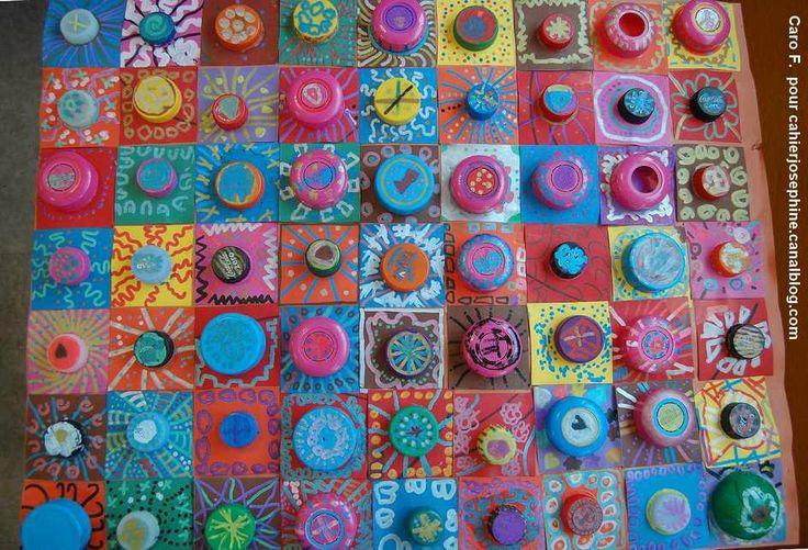 Elmer, bonhommes, coloriage et récupération - Les cahiers de Joséphine