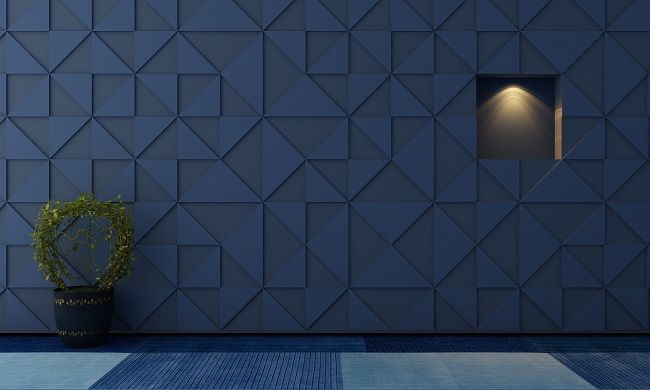 acoustic wall panels blue - Google Search