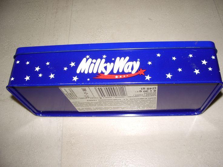 Milky Way pencil box 1988 met 8 x 30 gram MW. Made by Mars Haguenau france