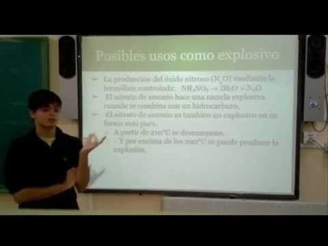 ¿Por qué el nitrato de amonio es un excelente fertilizante y a la vez un potente explosivo? - YouTube