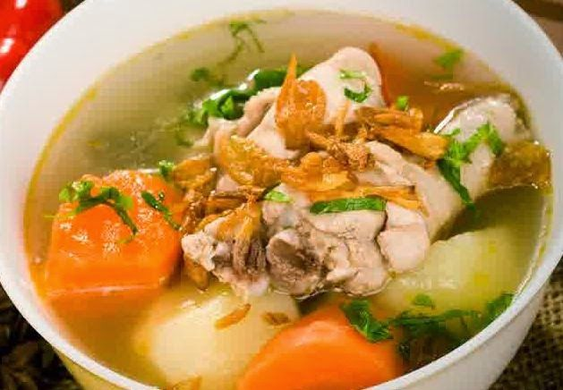 Resep Membuat Sop Ayam Sayuran Bening Gurih Enak Spesial http://dapursaja.blogspot.com/2014/07/resep-membuat-sop-ayam-sayuran-bening.html