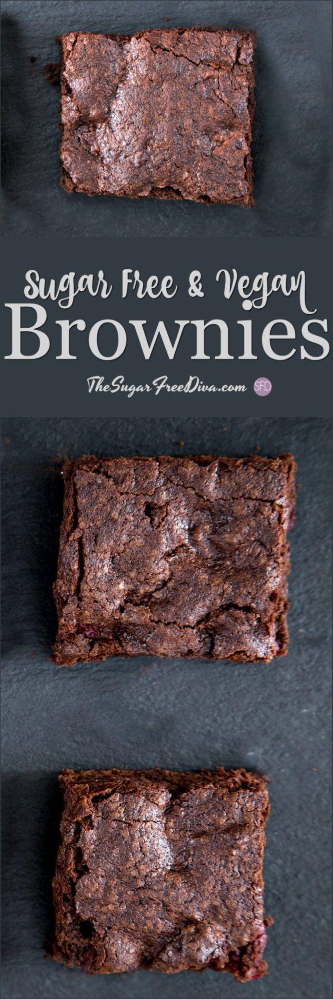 Sugar Free and Vegan Brownies #vegan #sugarfree #keto #chocolate #diabetic #recipe #brownies #tasty #trending #yummy