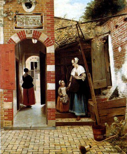 Pieter de Hooch: Courtyard in Delft, 1658
